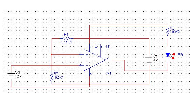 The circuit of a comparator