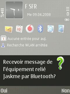 English: screenshot of an opt-in bluetooth Fra...