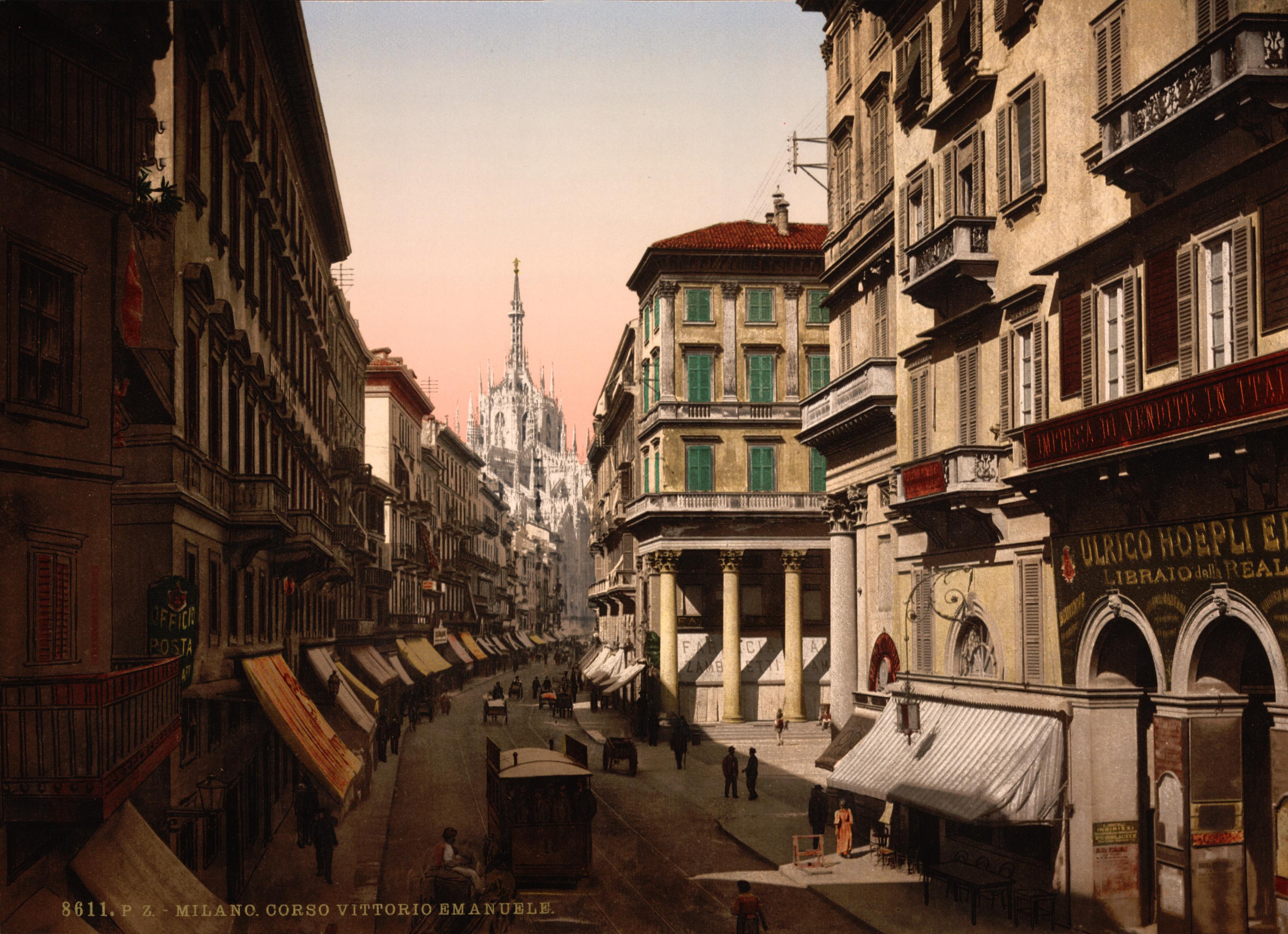 Milan Italy  City pictures : ... Corso Vittorio Emanuele, Milan, Italy, 1890s Wikimedia Commons