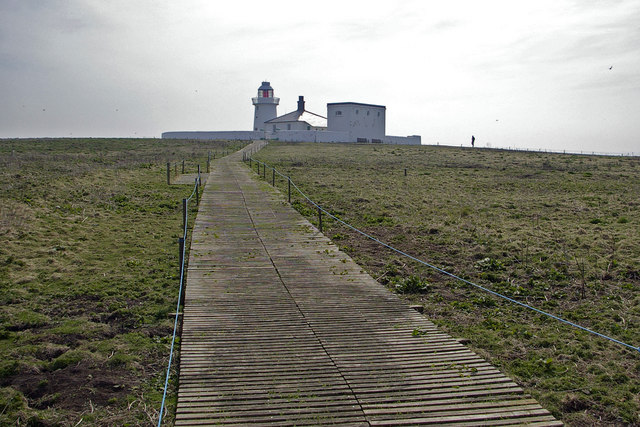 Path towards the lighthouse - geograph.org.uk - 431984