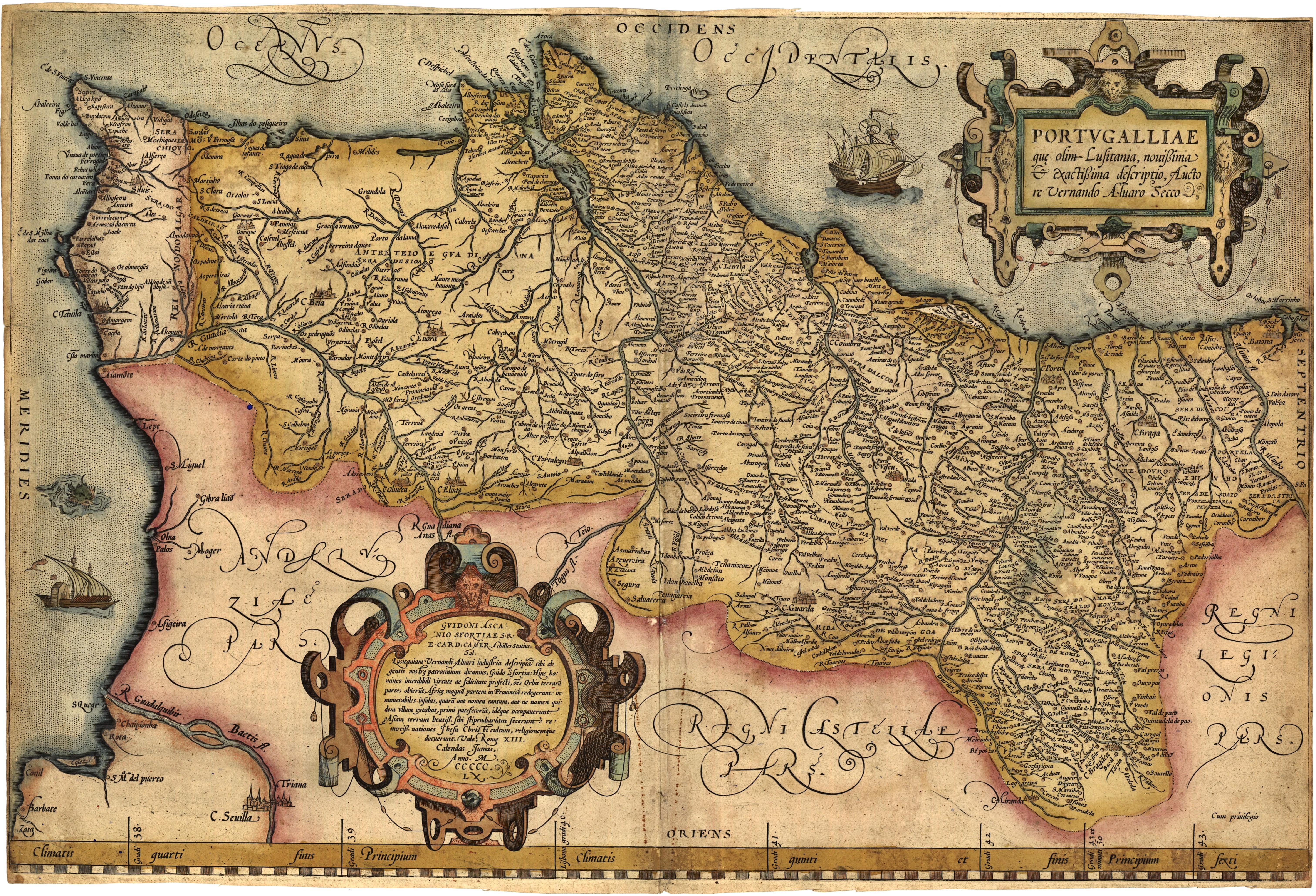 Ficheiro:Portugalliae 1561 (Baseado no primeiro mapa de Portugal)-JM.jpg