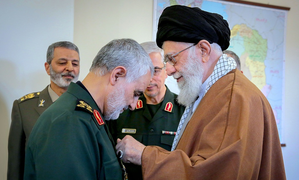 """Qasem Soleimani received Zolfaghar Order from Ali Khamenei. 