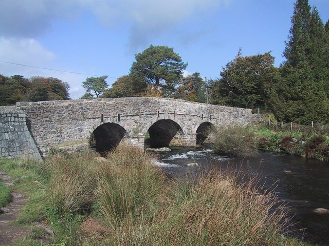Road Bridge at Postbridge - geograph.org.uk - 989004