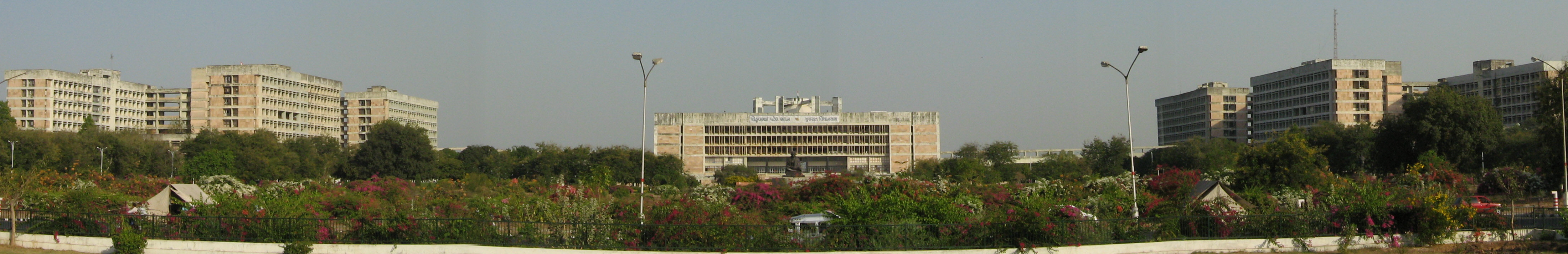 Gandhinagar, the capital of Gujarat State. Picture shown above is of Legislative Assembly and seat of Gujarat Government.