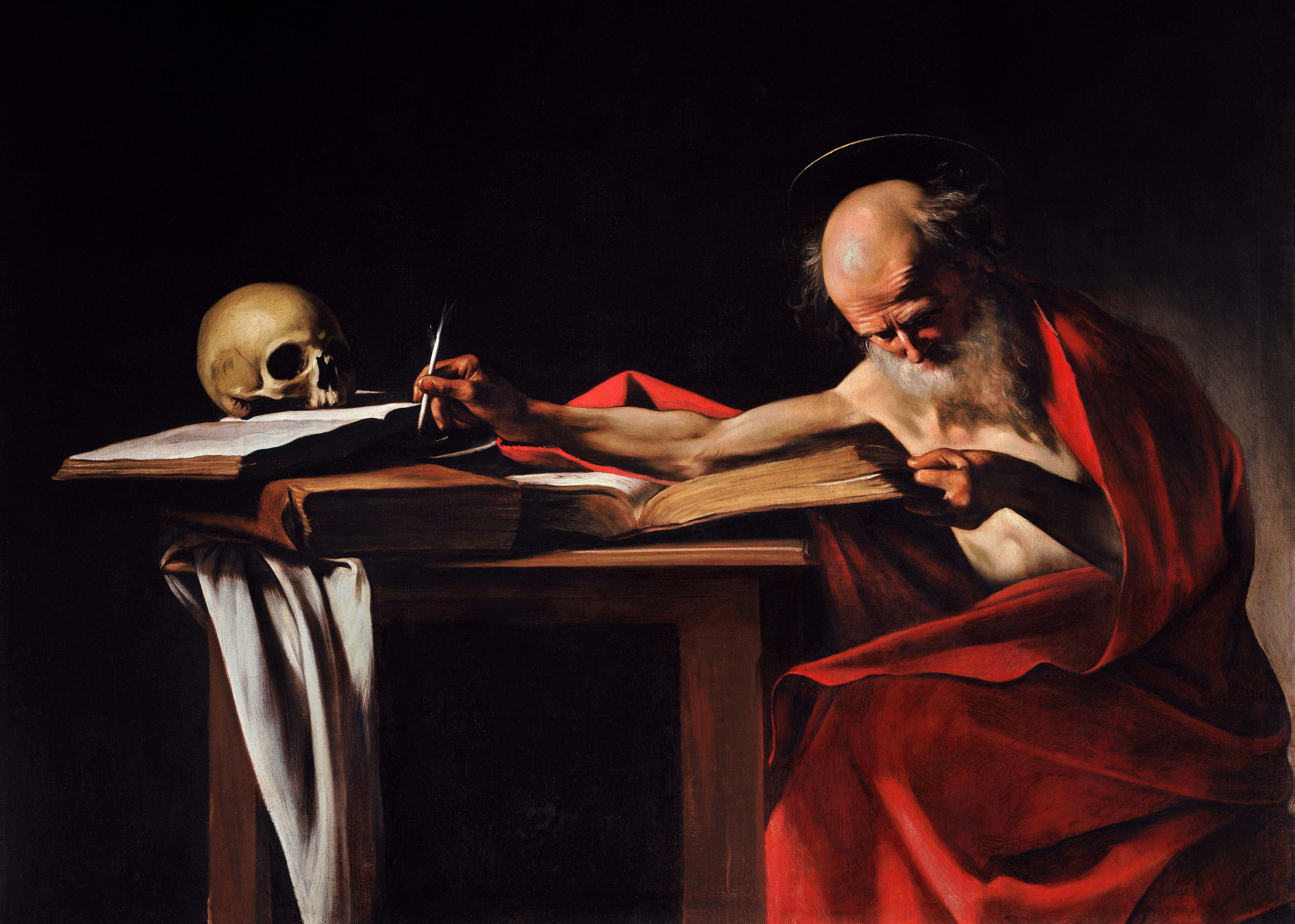 Saint Jerome Writing-Caravaggio (1605-6).jpg