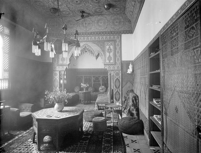Filesalon Arabe De Lhôtel Transatlantique à Rabat Vers 1925