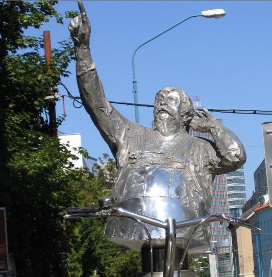 Monument of Július Satinský in Bratislava