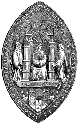 Seal of Cambridge University Caption : SEAL OF...