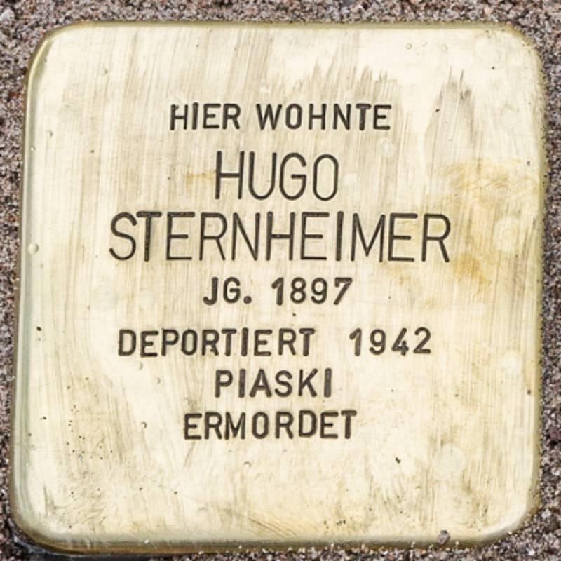 Stolperstein für Hugo Sternheimer