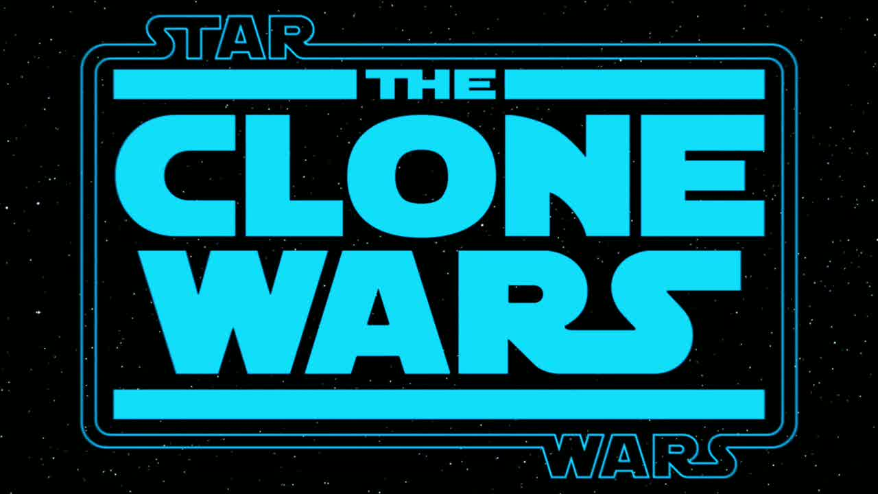 File The Clone Wars Logo Bleu Jpg Wikimedia Commons