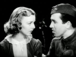 Margaret Sullavan and Stewart in The Shopworn Angel, 1938. The Shopworn Angel trailer.JPG