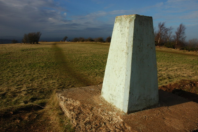 Trig point on Leckhampton Hill - geograph.org.uk - 654088