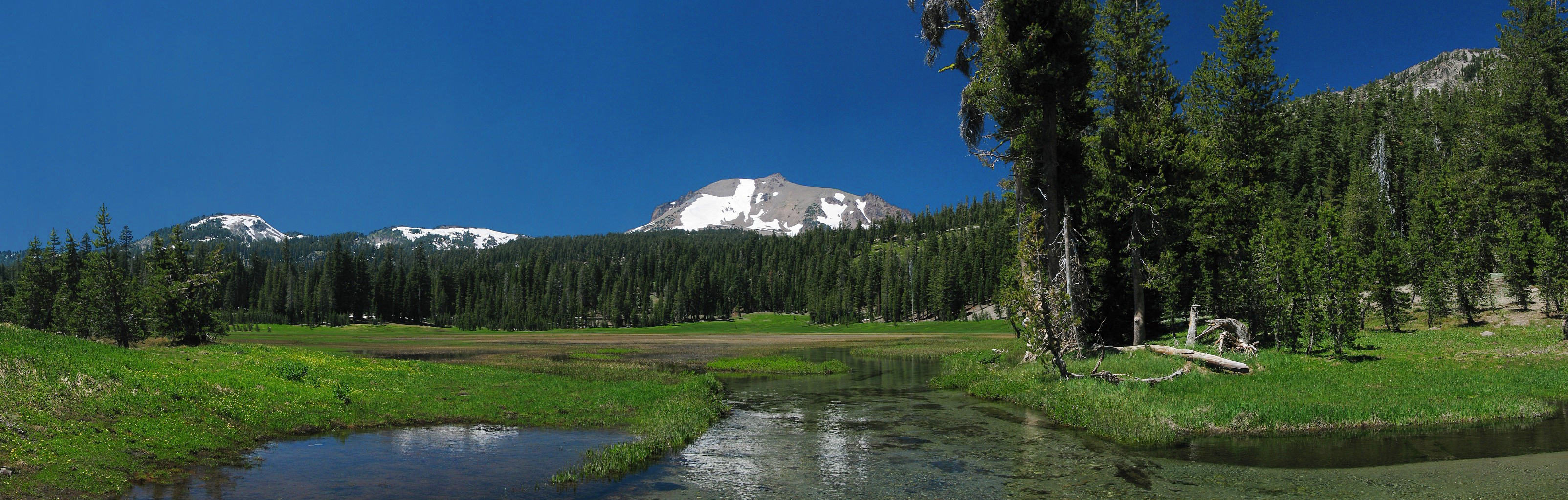 Kings Creek With Len Peak On The Horizon