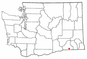 Location of Walla Walla, Washington