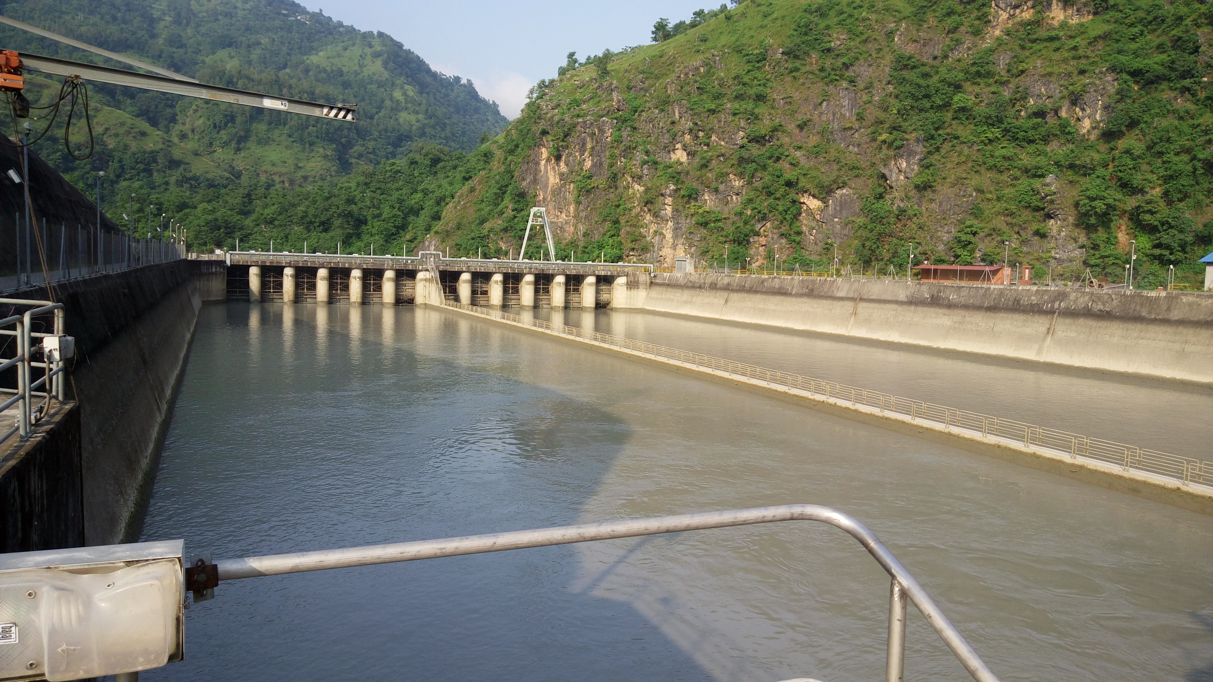 file:water reservoir of kaligandaki a hydroelectric power station in