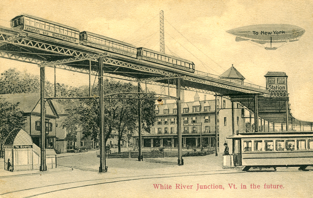 White River Junction, Vermont in the Future. 1911 Postcard