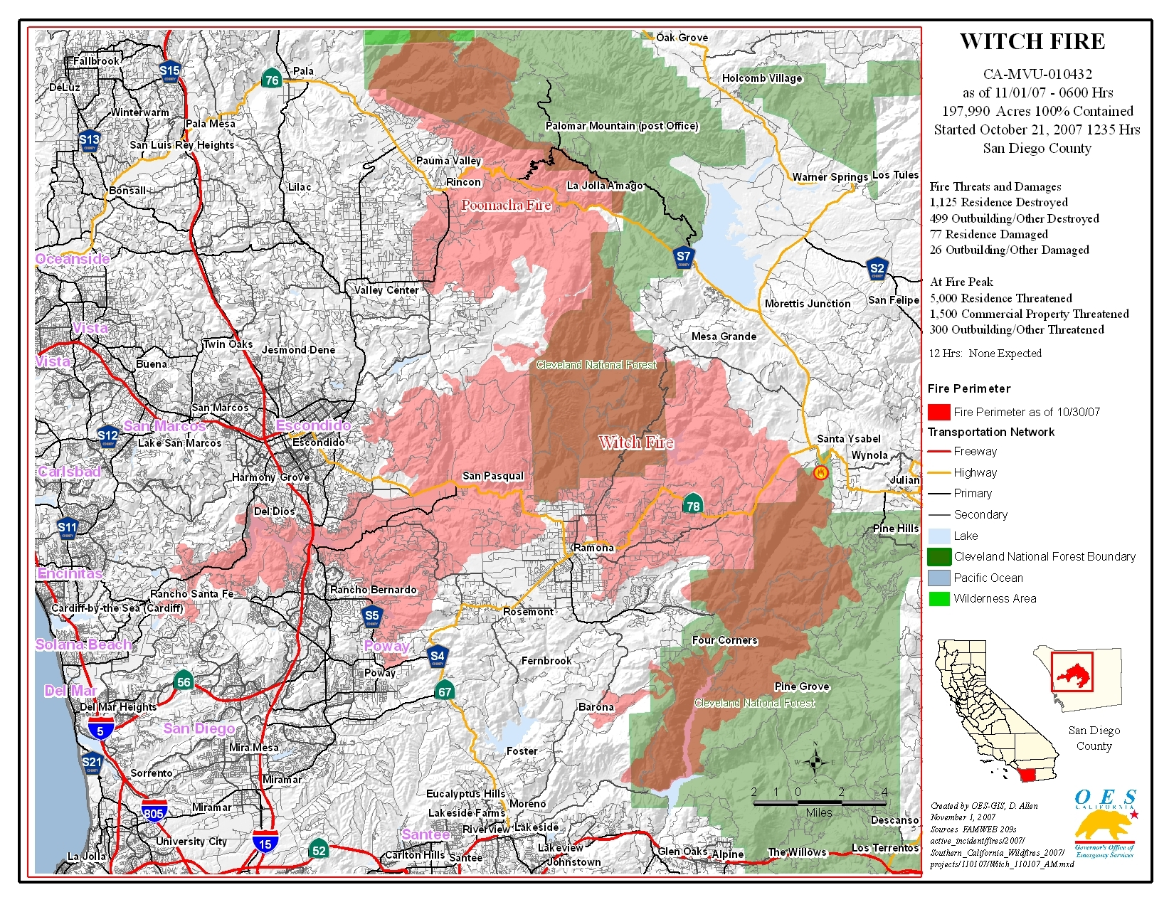File Witch Creek Fire Map Jpg Wikimedia Commons