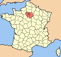 Map of Île-de-France