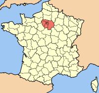 Île-de-France map