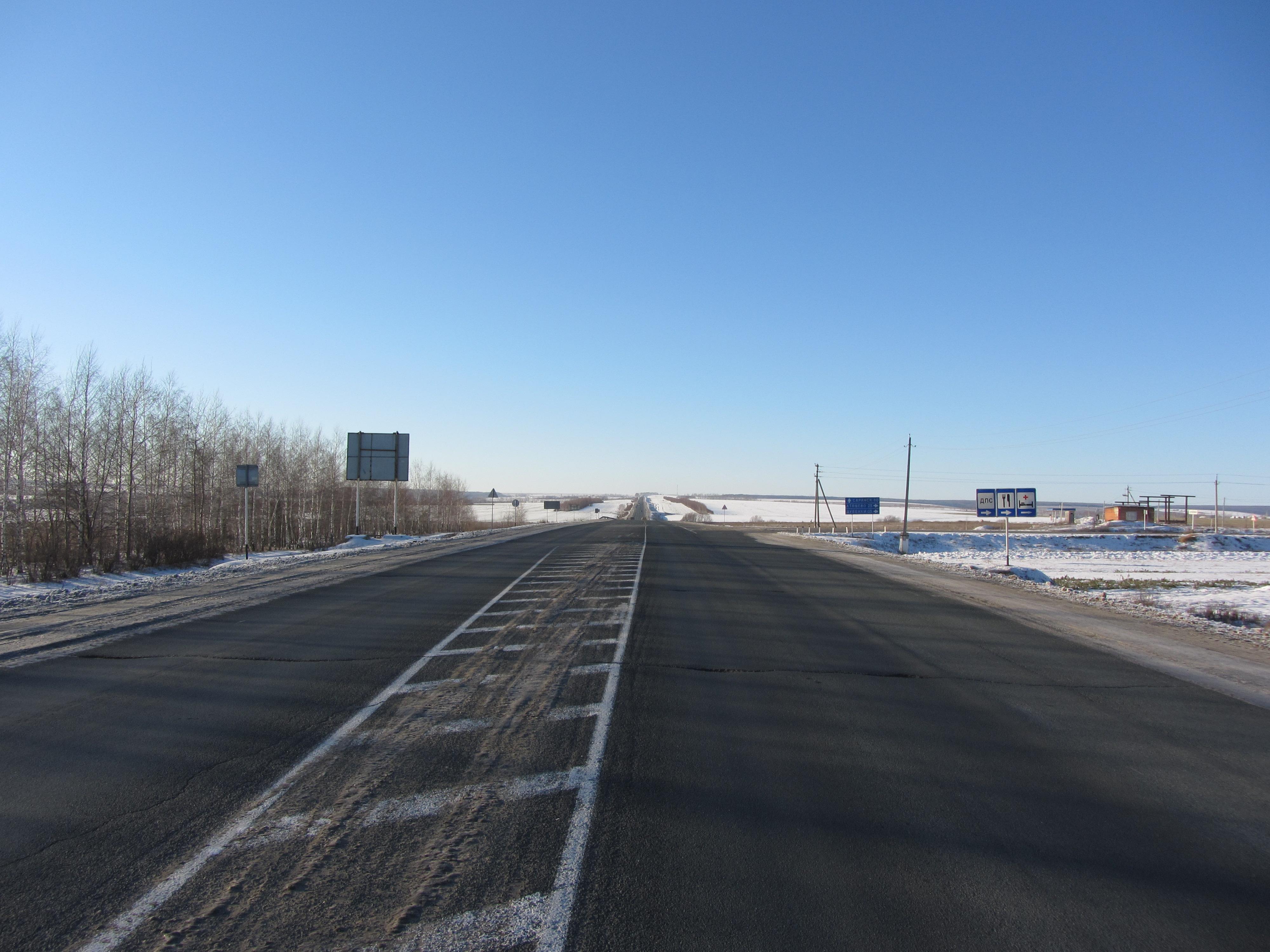 Автодорога Р178 возле посёлка Дубёнки, Мордовия.jpg