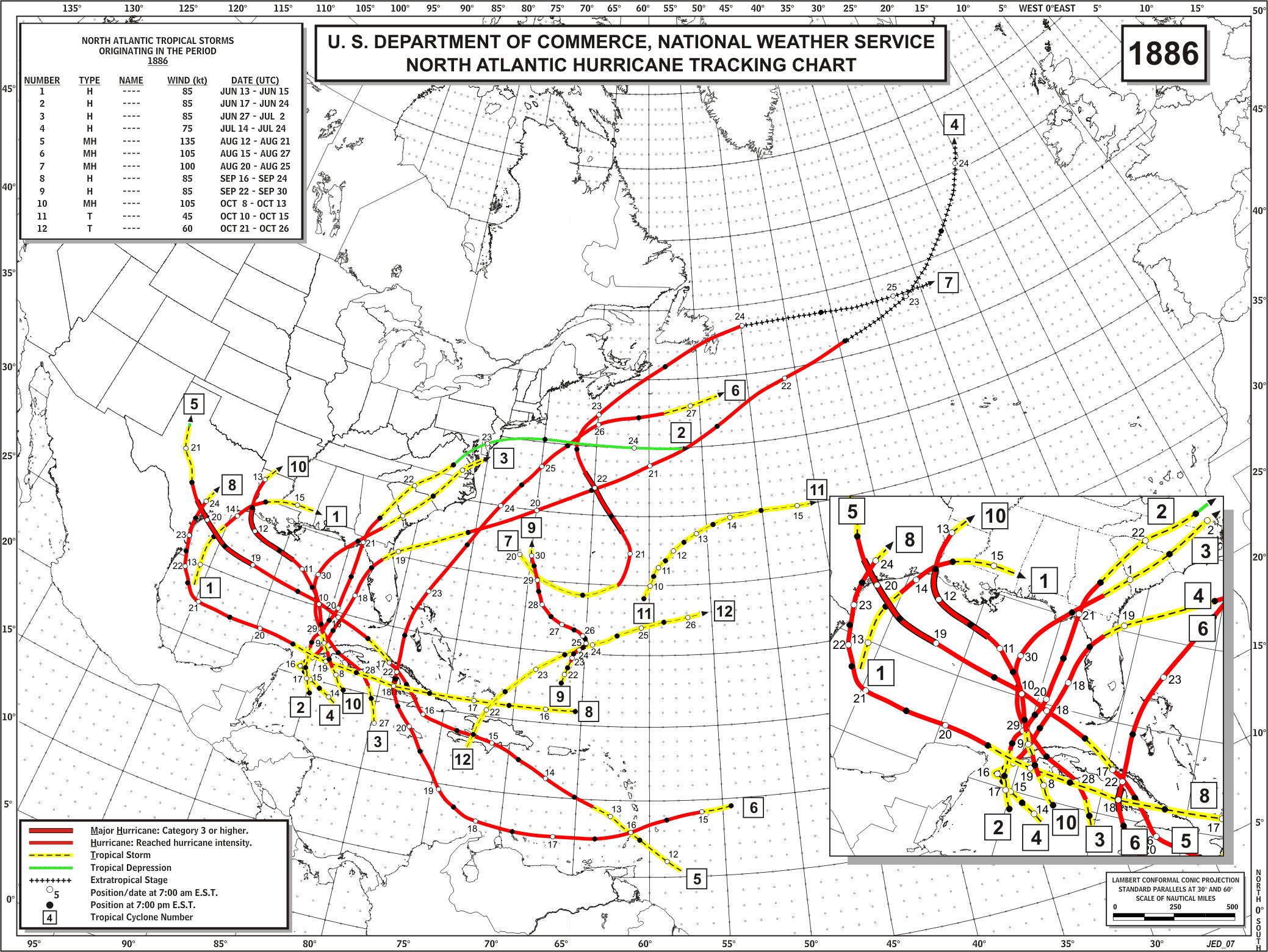 Climate Strike Wikipedia: 1886 : America's Busiest Hurricane Season