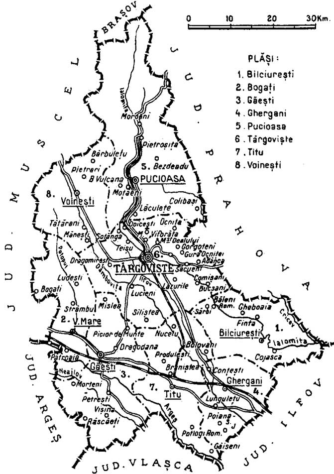 File 1938 Map Of Interwar County Dambovita Jpg Wikimedia Commons