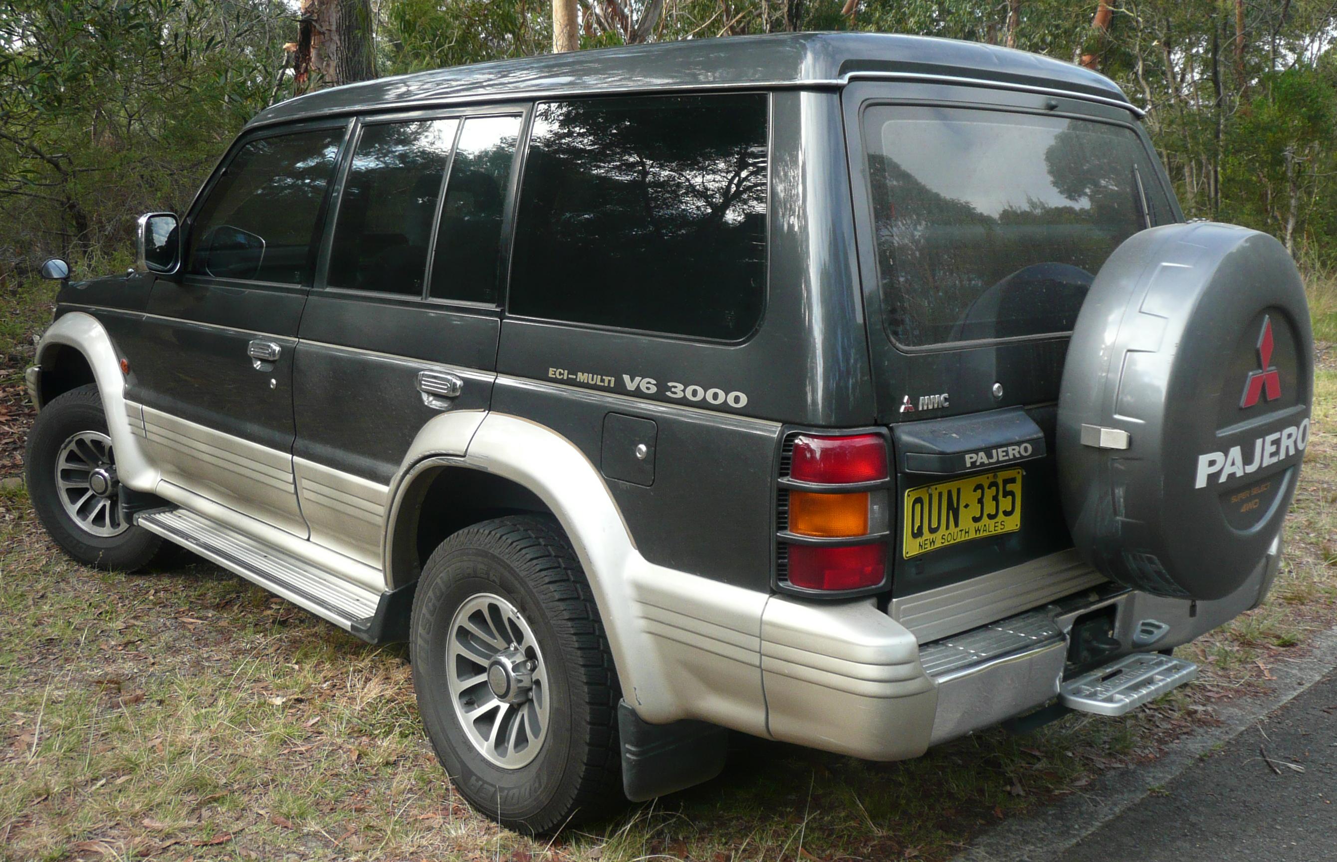 New Mitsubishi 3000gt >> File:1991-1993 Mitsubishi Pajero (NH) V6 3000 wagon 02.jpg ...
