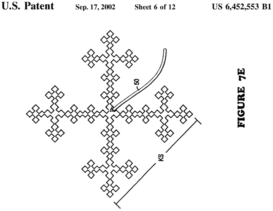 picture regarding Printable Fractal Antenna Pattern named Fractal antenna - Wikipedia