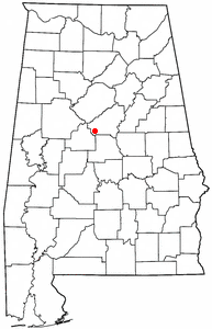 Location of Montevallo, Alabama