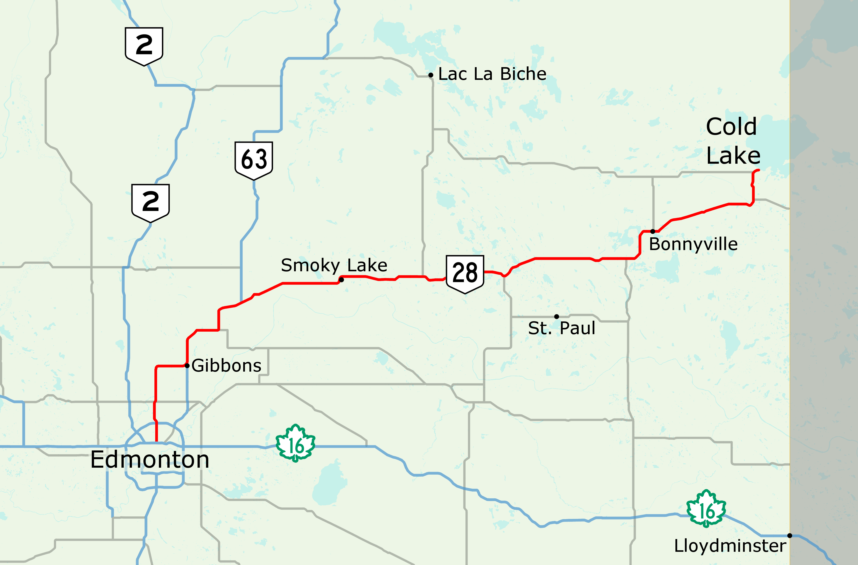 Map Of Redwater Alberta Alberta Highway 28   Wikipedia