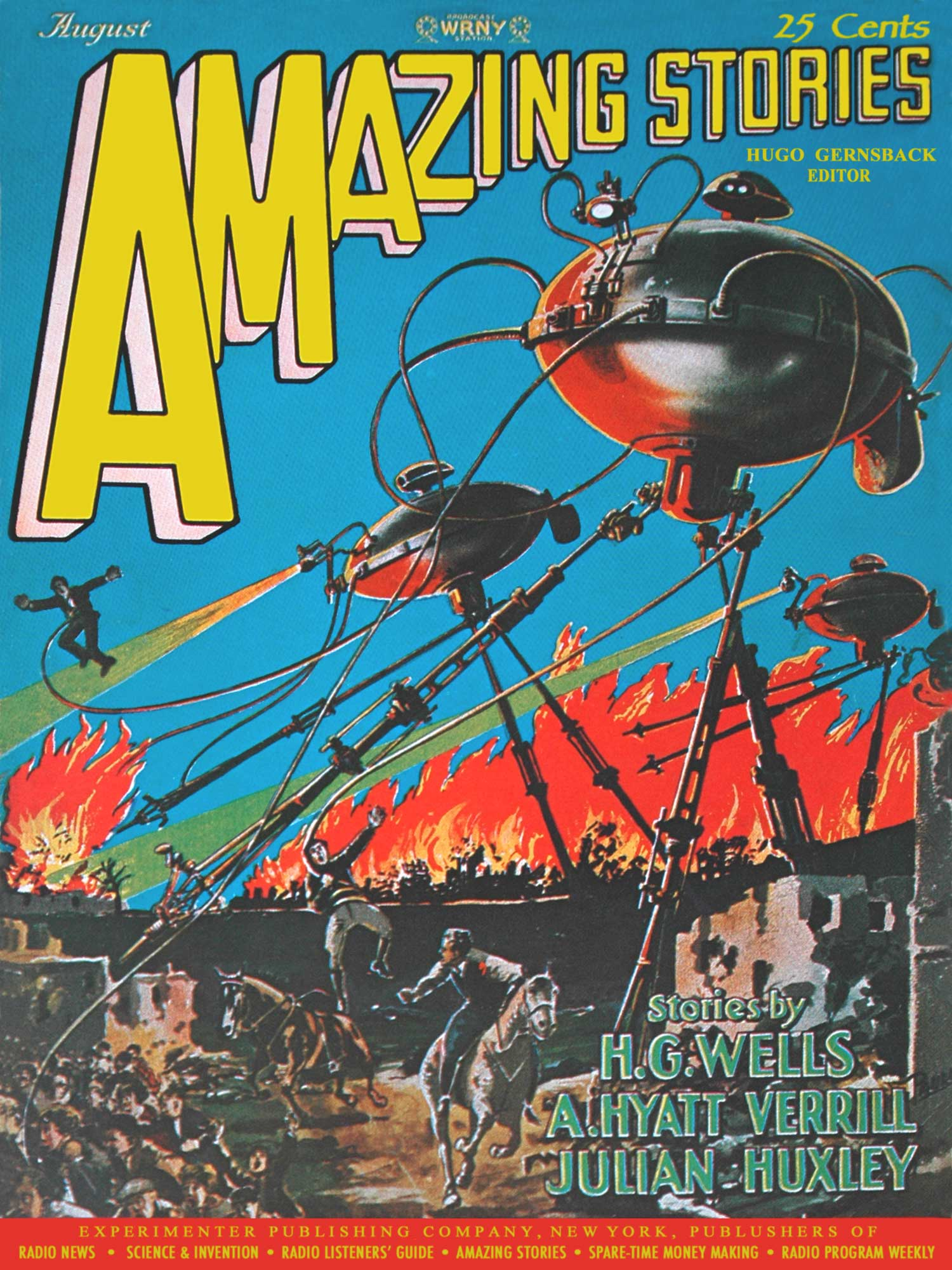 Amazing stories War of the Worlds cover
