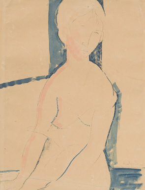 File:Amedeo Modigliani, Femme nue assise, 1916. Pencil and watercolor on paper.jpg