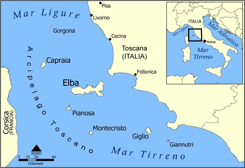 Livorno Cartina Geografica Italia.Arcipelago Toscano Wikipedia