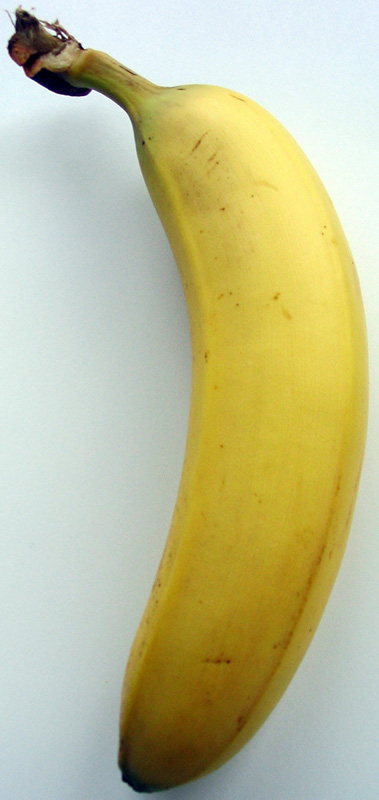 A banana contains naturally occurring radioactive potassium.