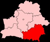 Гомельская область на карте