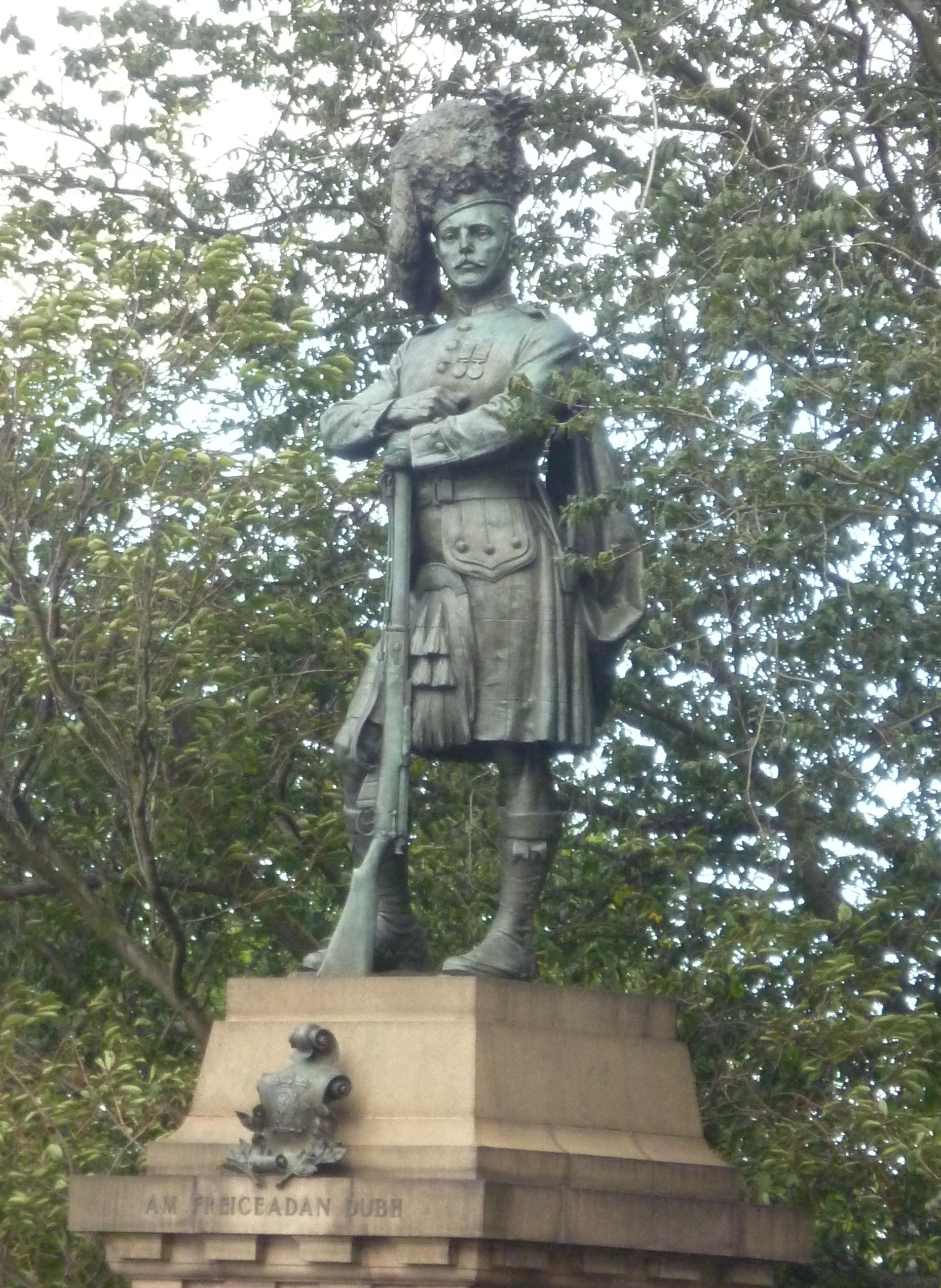 Black Watch Memorial on the Mound, Edinburgh