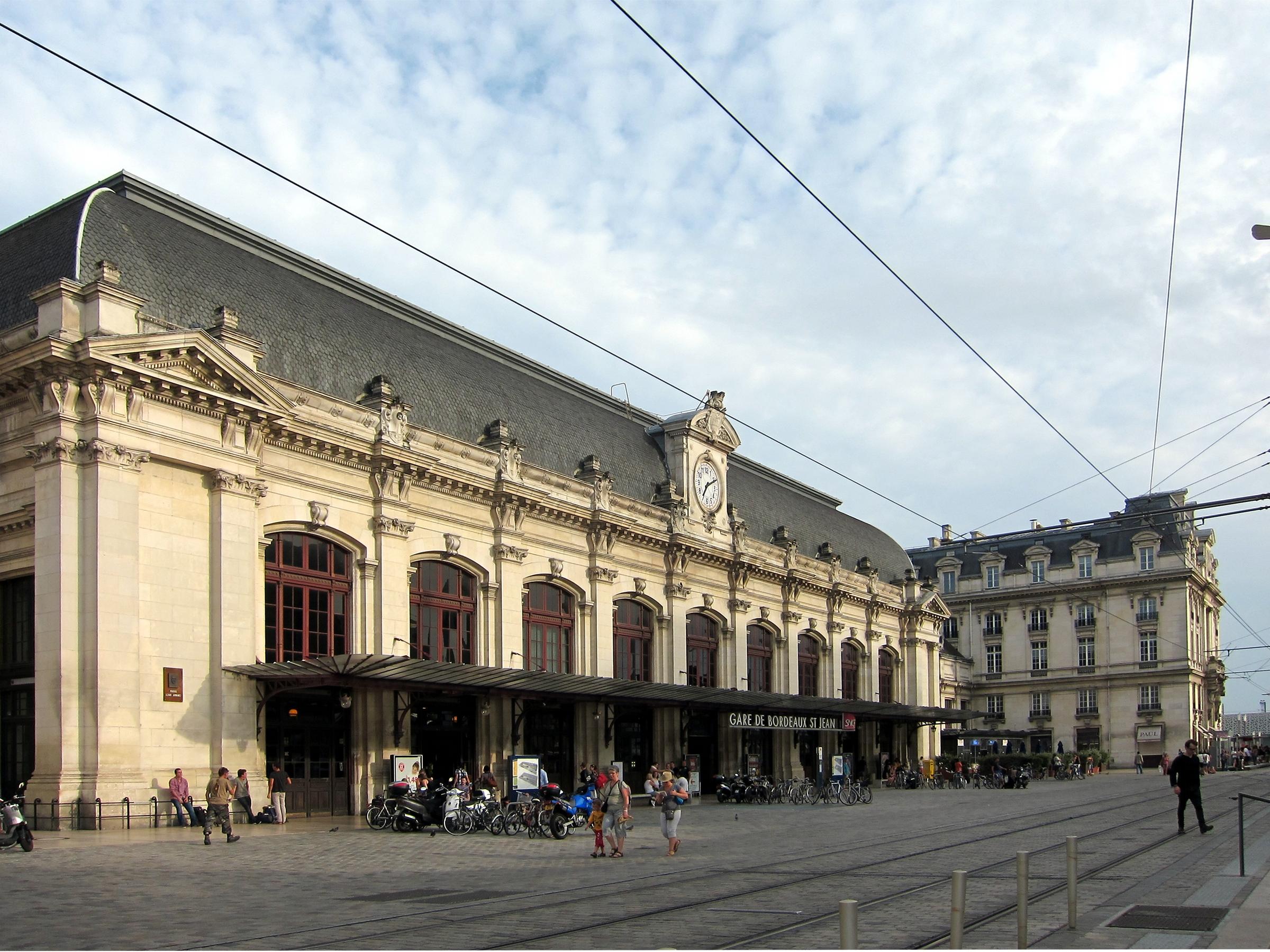gara térkép Gare de Bordeaux Saint Jean – Wikipédia