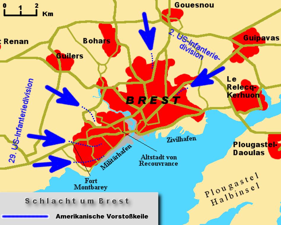 Map Battle of Brest WIP