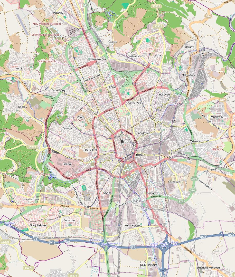 brno térkép Fájl:Brno Center map.png – Wikipédia brno térkép