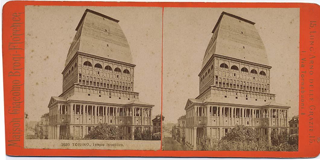 Mole Antonellia construit par accueillir la synagogue de Turin - Photo de Giacomo Brogi