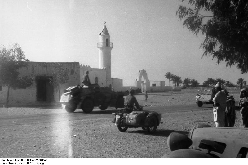 Motorized Troops in North Africa