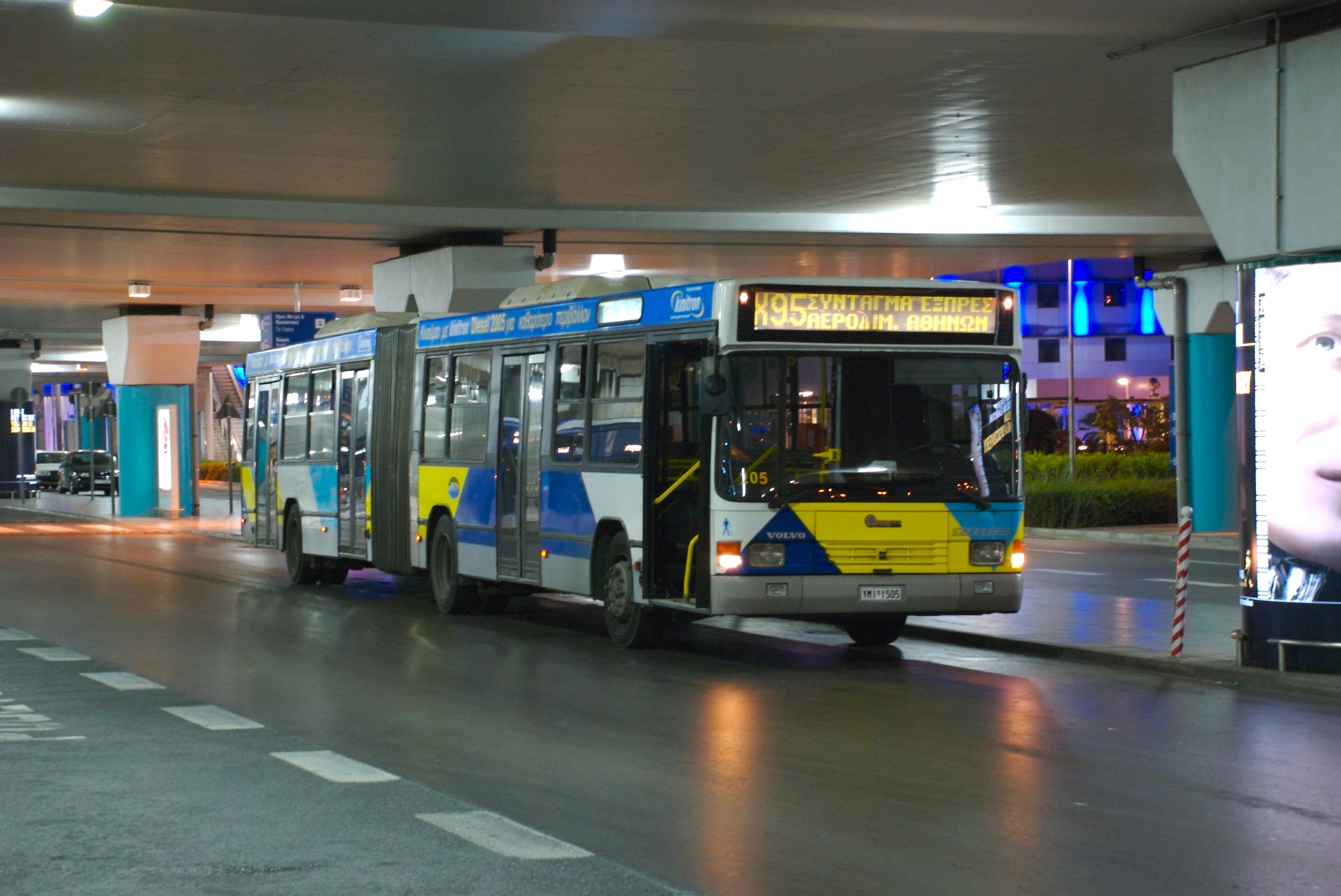 Bus X95 en el Aeropuerto