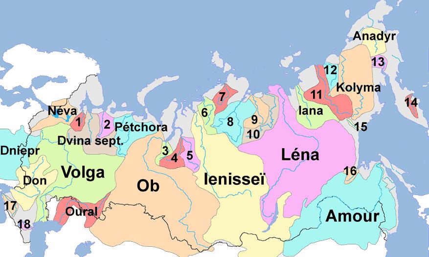 carte de russie