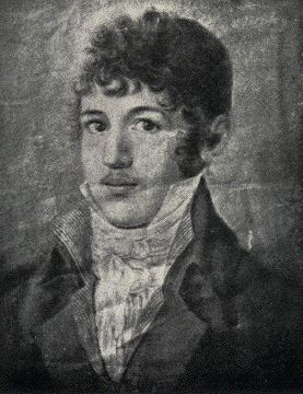 César Malan op 20-jarige leeftijd (ca. 1807).