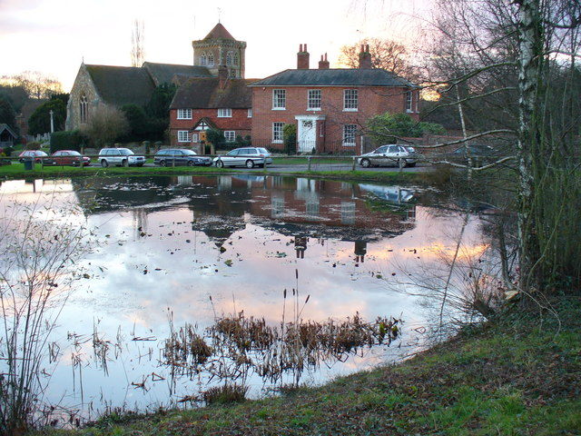 Chiddingfold Pond and Church - geograph.org.uk - 291836