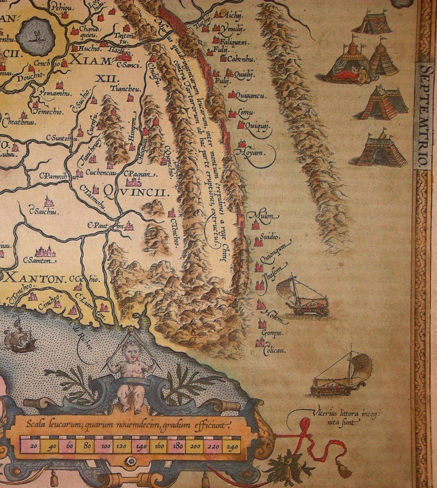 Chinesische Mauer Karte.Datei Chinesische Mauer Ortelius 1584 Jpg Wikipedia