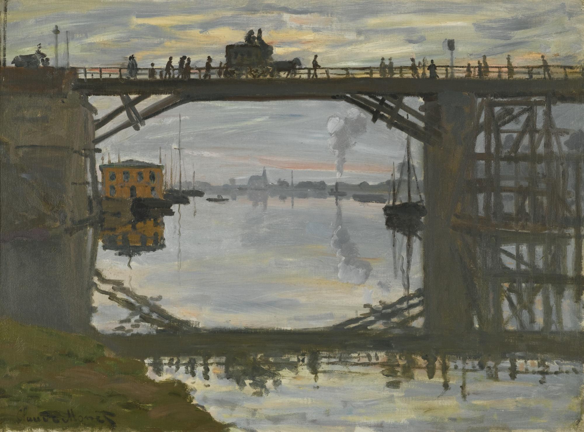 File Claude Monet Le Pont De Bois Jpg Wikimedia Commons # Bois En Chaene