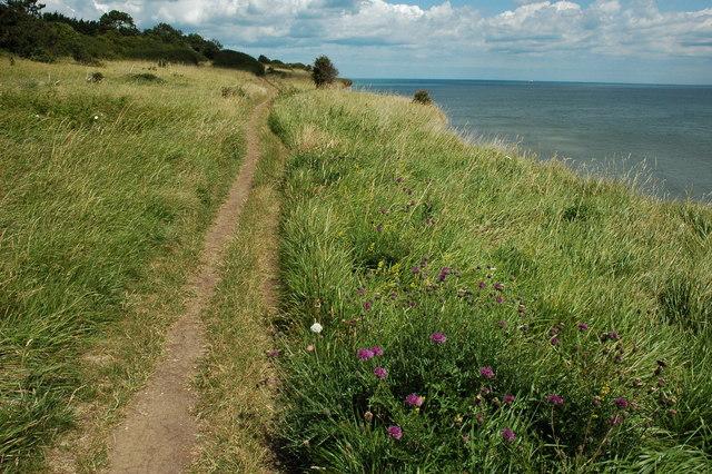 Cliff top path near Kingsdown - geograph.org.uk - 1408782