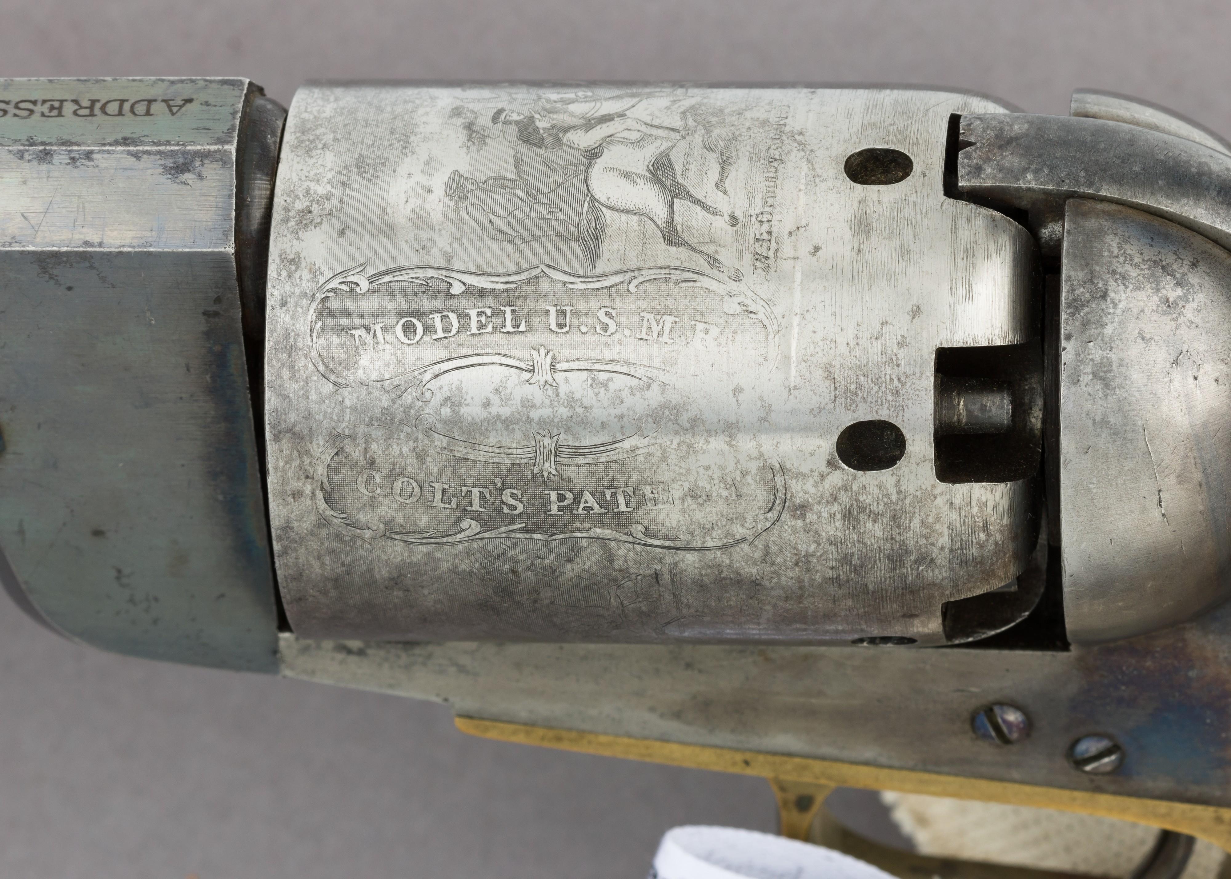 File:Colt Walker Percussion Revolver, serial no  1017 MET