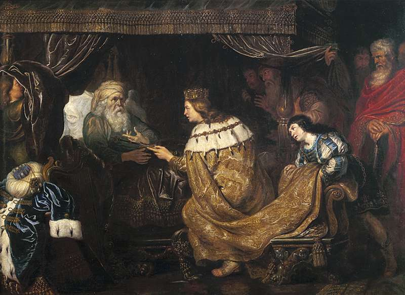 Cornelis de Vos - King David presenting the sceptre to Solomon